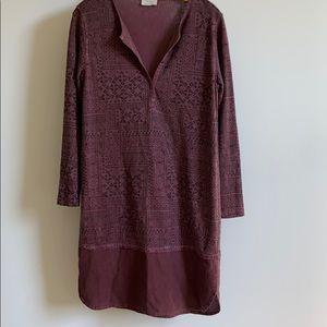 Wrap dress made of 55% hemp